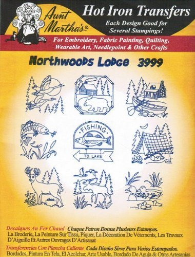 (Northwoods Lodge Aunt Martha's Hot Iron Embroidery Transfer)