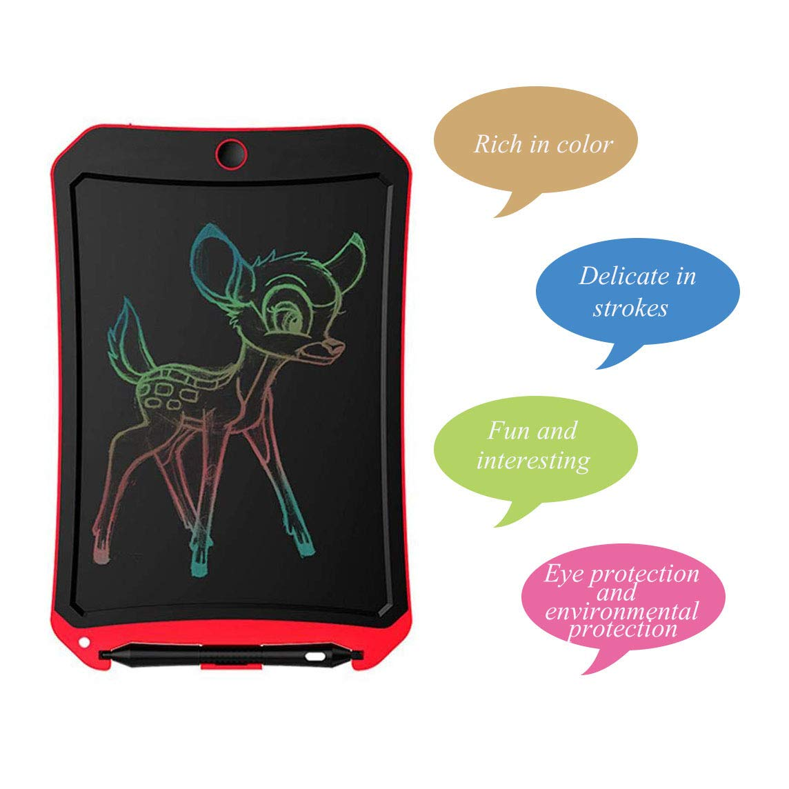 8.5 inch Writing /&Drawing Board Doodle Board Toys for Kids,BIBOYELF Birthday Gift for 4-5 Years Old Kids /& Adults Color LCD Writing Tablet with Stylus Smart Paper for Drawing Writer/ Pink-White