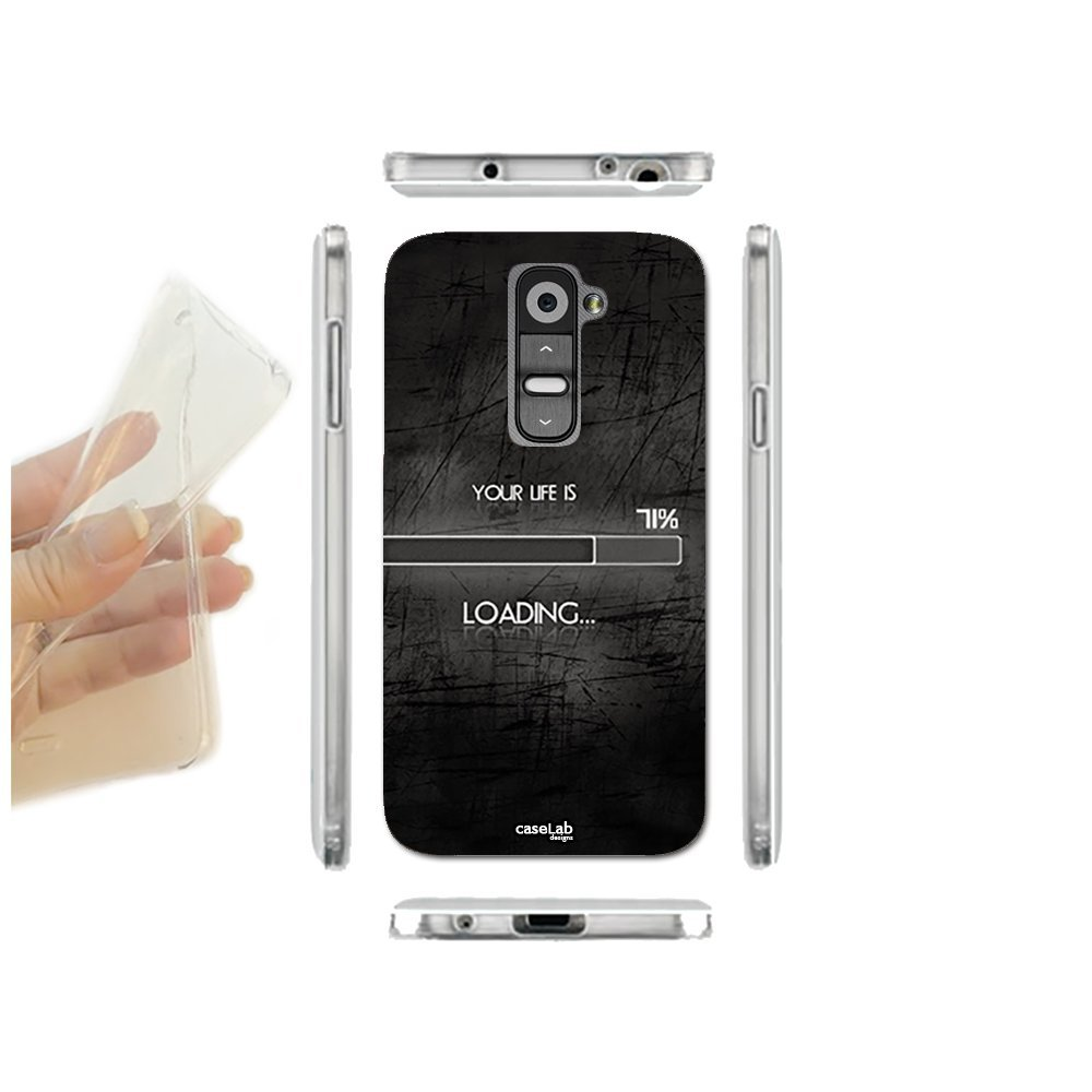 CASELABDESIGNS FUNDA CARCASA SLIM LIFE IS LOADING PARA LG G2 ...