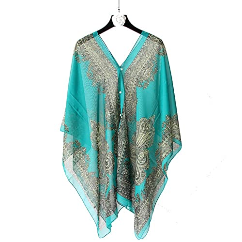 Señora chal bufandas de múltiples funciones protector solar playa mar toalla bufanda turismo