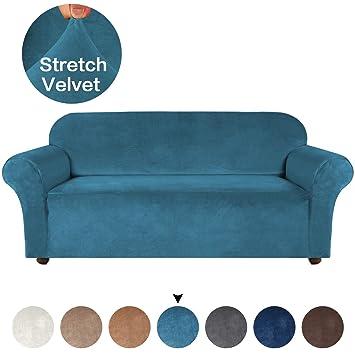 Amazon.com: Funda de sofá de terciopelo turquesa, 1 pieza de ...