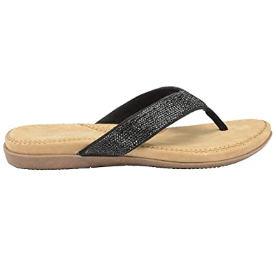 b79c67bee Dunlop Flip Flops Toe Post Slip On Sandals Flat Cushioned  Amazon.co ...