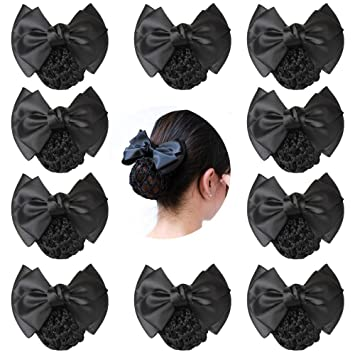 Durable Snood Net Bowknot Detail French Clip Hair Barrette For Woman Beauty US