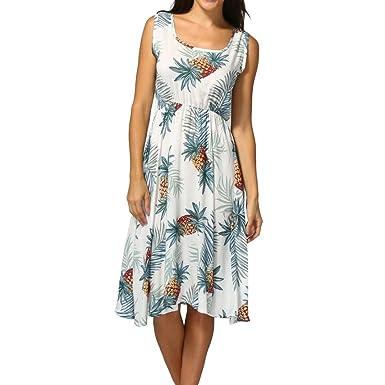 OHQ Robe DéBardeur ImpriméE Pour Femme Marine Blanc Rose Jaune Femmes  Summer Print Off éPaule Sans 1ab84cc67a7