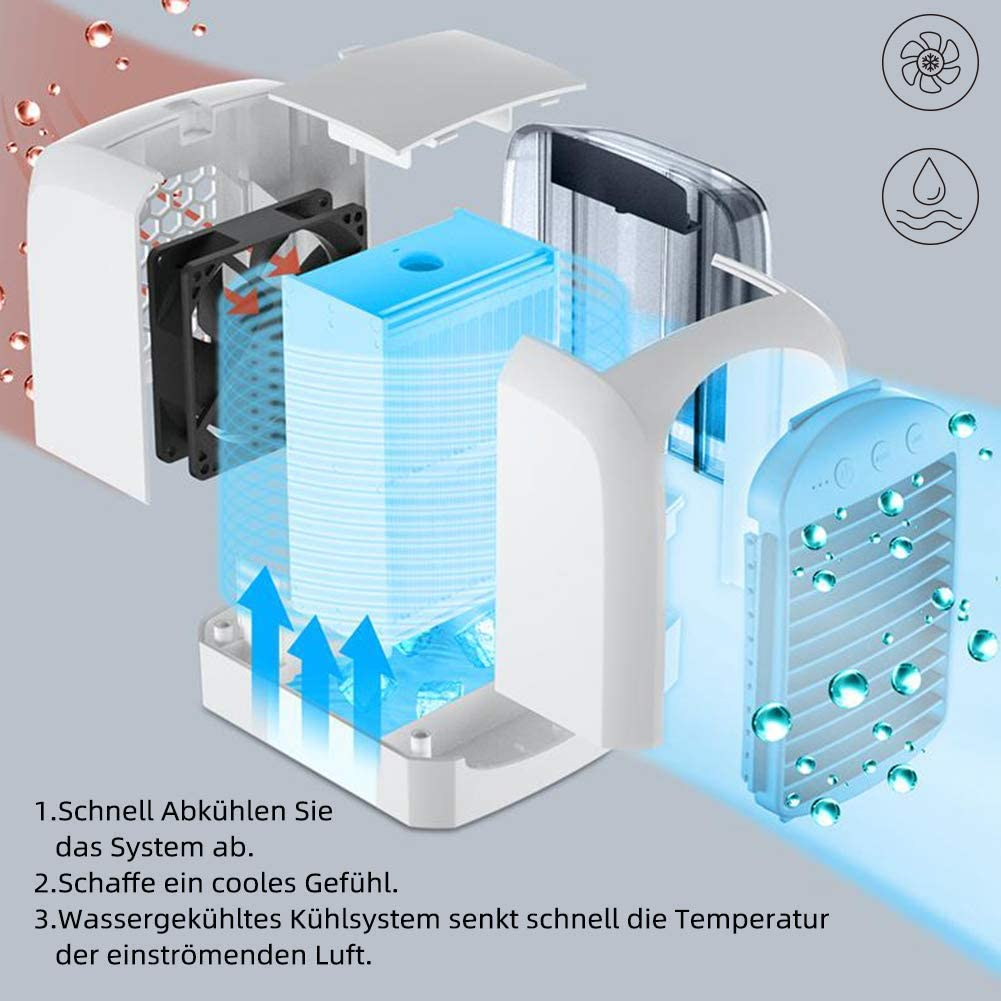 GJXY Mini Aire Acondicionado portátil 4 en 1, Aire Acondicionado ...