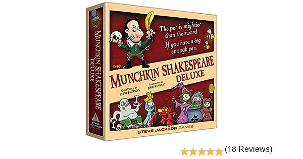 Steve Jackson Games SJG01564 Munchkin Shakespeare Deluxe - Juego de Mesa (edición en inglés): Amazon.es: Juguetes y juegos