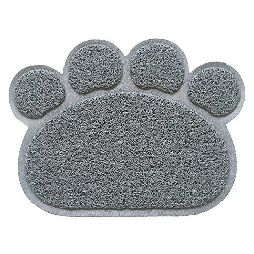 Legendog Dog Mat, Dog Feeding Mat Multifunctional Animal Footprint Pet Food Mat Door Mat Bath Rug by Legendog (Image #2)