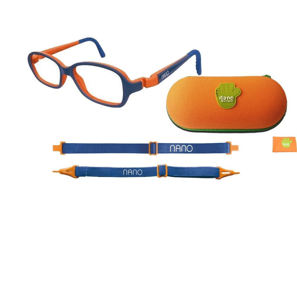 662bc910cf6 Nano Children Eye Glasses Matt Blue and Orange Colored Spectacle Frame RE- PLAY size 42 - (4-6 years old)  Amazon.in  Clothing   Accessories