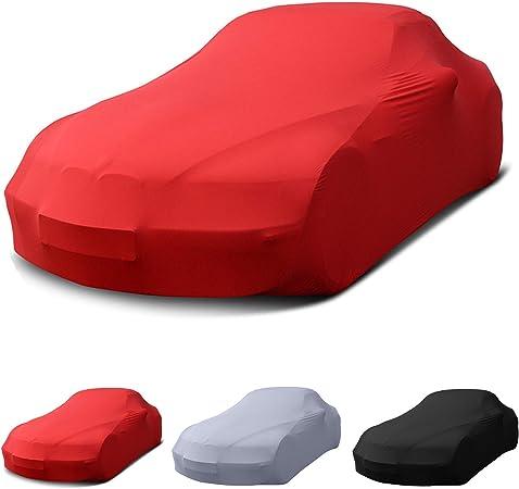 Stretch Soft Cover Indoor Autoplane Autoabdeckung Auto Car Cover Abdeckplane Schmutzabweisend Autogarage Staubdicht Extrem Atmungsaktiv Autodecke Rot Auto