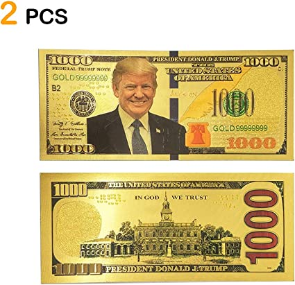 Donald Trump Premium Collectible United States Novelty 45 Dollar Bill with Case