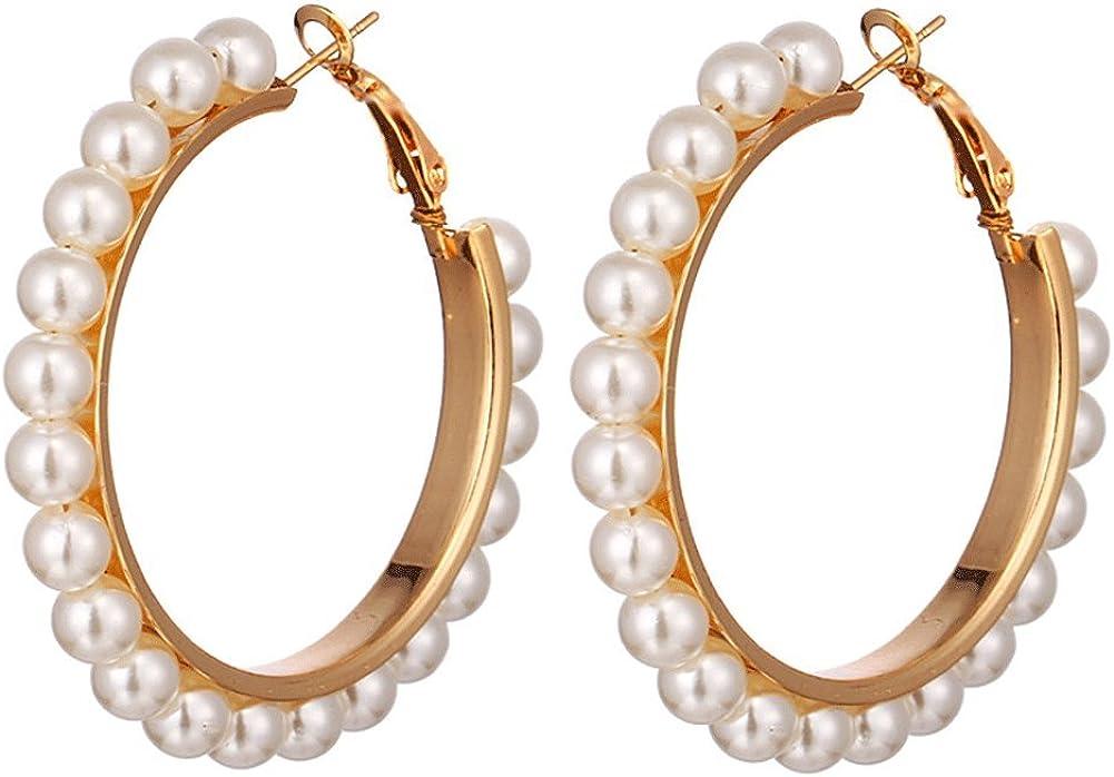 Pearl Hoop Earrings Teens...