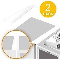 TOROTON Silicone Réchaud Comptoir Gap Coque Anti-éclaboussures pour Joints Gap Filler pour cuisinière Plan de Travail de Cuisine Réchaud Comptoir, 2 Pack