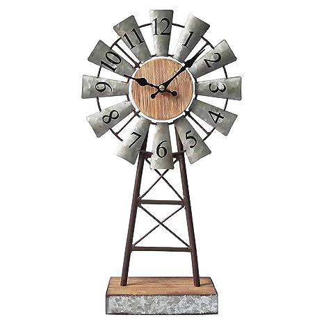 Amazon.com: MODE HOME Reloj de mesa galvanizado para ...