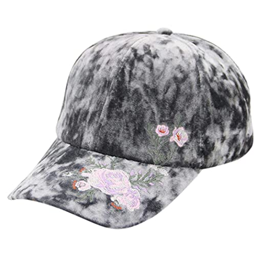 1ccd20395 URIBAKE Unisex Vintage Embroidery Twill Cotton Baseball Cap Vintage ...