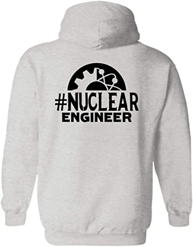 Amazon Com Sunny Yellow Nuclear Engineer Hashtag Pullover Hoodie Design Unisex Hoodie Clothing