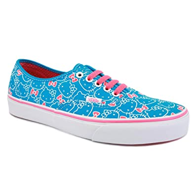 b9461a79b3 Vans Hello Kitty Authentic QER67B Womens Laced Canvas Trainers Blue Pink -  5  Amazon.co.uk  Shoes   Bags