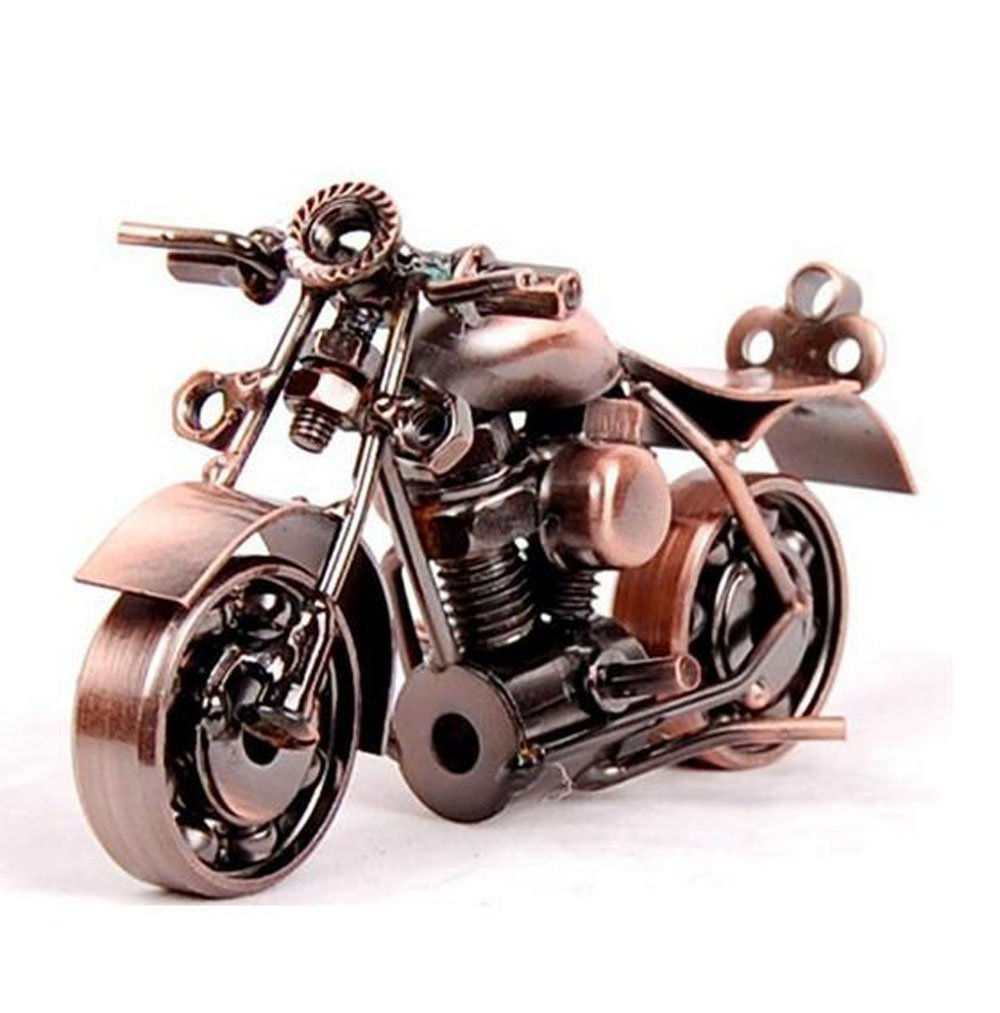 MYTANG Creative Office Desktop Accessories The motorcycle loves Metal Motorcycle Model Artwork (m37-Copper)