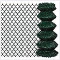 "K&A Company Chain Fence 2' 7"" x 82' Green"