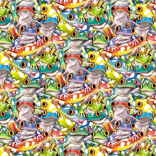 GRAPHICS & MORE Tropical Rainforest Tree Frog Pattern Premium Roll Gift Wrap Wrapping Paper
