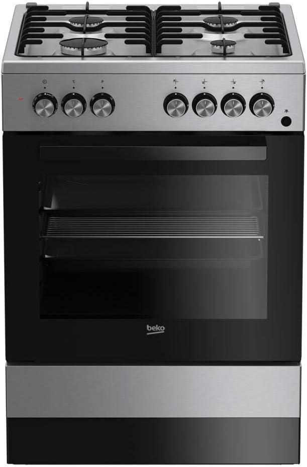 Beko FSE62110 DX Cucina 60x60cm Forno Elettrico Ventilato Coperchio Cristallo In