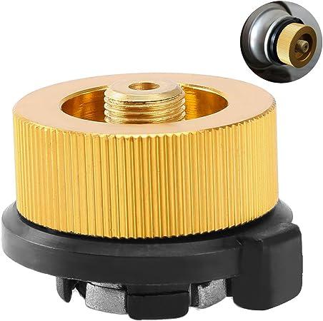 Conector de encendido y apagado para tanque de propano de hornillo de camping de RUNACC, adaptador práctico, compatible con hornillo tipo split, ...