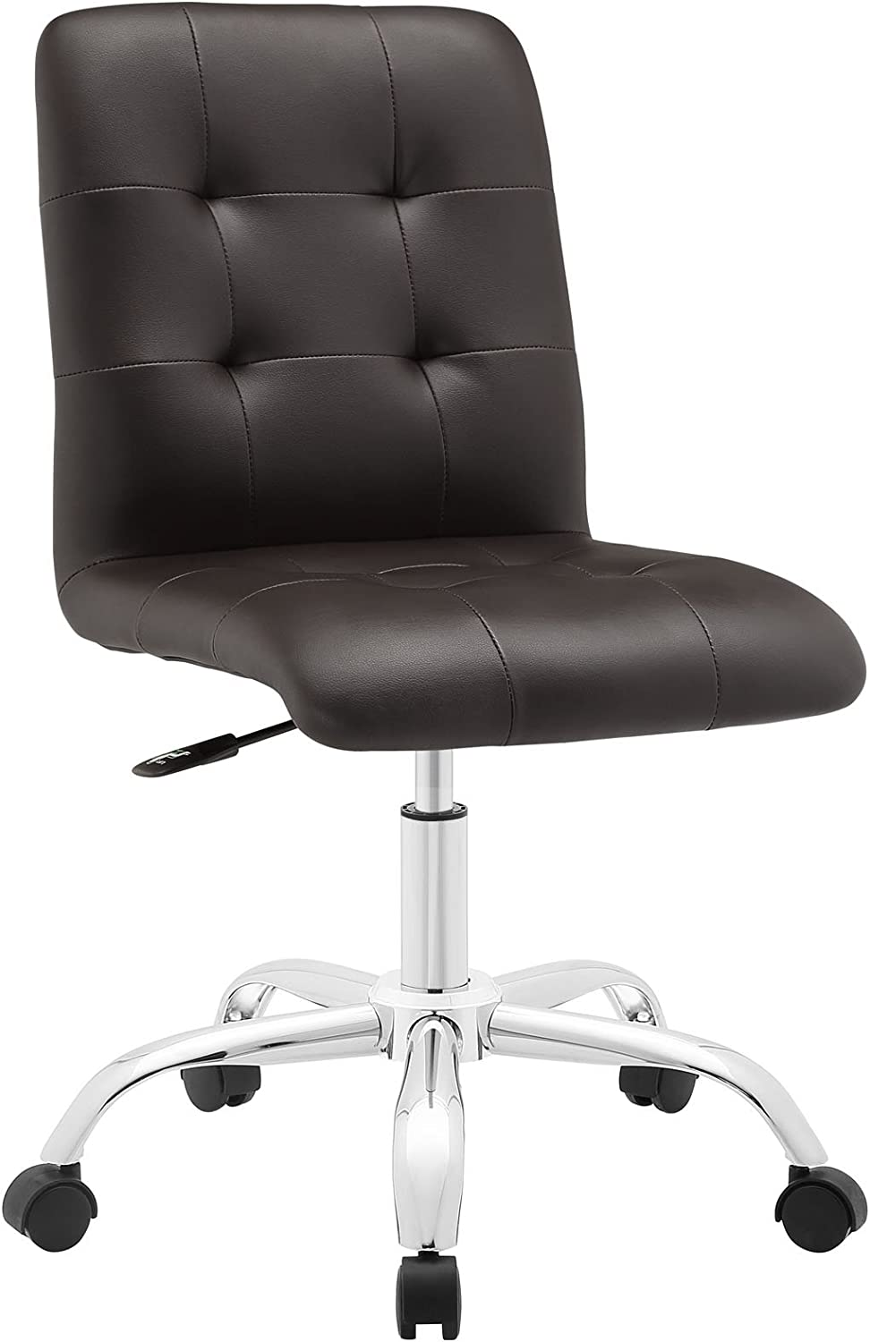 Modway Prim Mid Back Office Chair, Brown