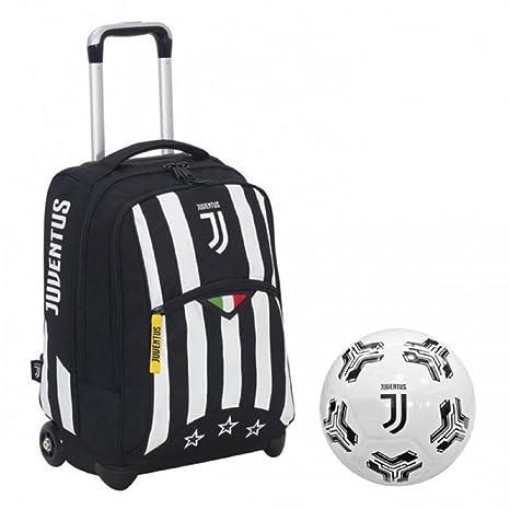 46d6e5006c Juventus JJ Zaino Trolley Scuola + Pallone Calcio Gomma Juve PS 13014