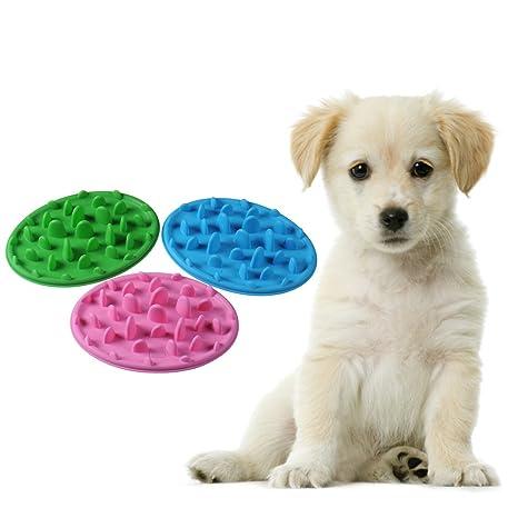 Comedero interactivo de alimentación lenta para perros y gatos, evita la hinchazón y la obesidad