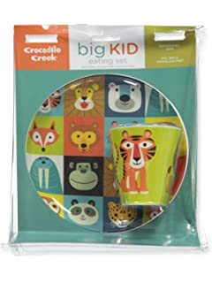 CROCODILE CREEK Backyard Friends Plate /& Cup Gift Set 1 Each