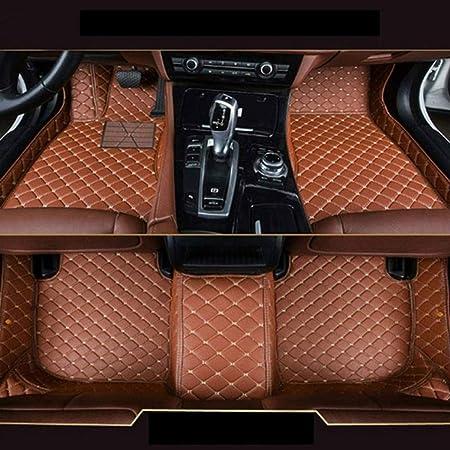 8x Speed Auto Fußmatten Leder Bodenmatte Für B Mw X5 E70 5 Sitze 2008 2013 Volldeckung Wasserdichte Anti Rutsch Anti Kratz Braun Automatten Auto