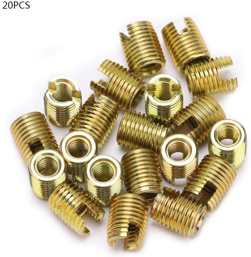 50 piezas de acero inoxidable rosca interior inserciones de rosca autorroscantes conjunto de herramientas de reparaci/ón de refuerzo de roscas Inserciones roscadas