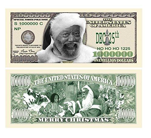 Set of 5 - Black African American Kente Claus Santa Claus
