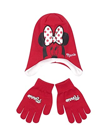 7b81aa67e52e Minnie Bonnet péruvien et gants enfant fille Rouge de 3 à 9ans - Rouge, 54  cm (6-8 ans)  Amazon.fr  Vêtements et accessoires