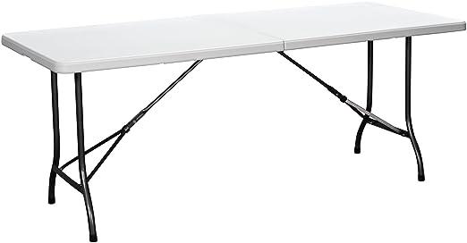 Amazoncom duralight hdpe folding table feet white granite - Table de jardin ovale extensible fort de france ...