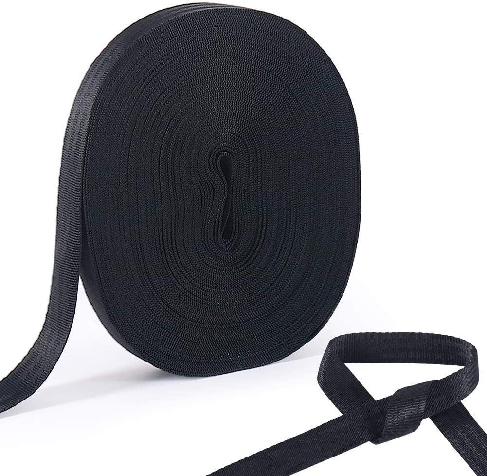 Shintop Durable Tree Tie Strap, 65 Feet Pull Tape for Garden Plant Supports (2200 LBs Tensile Strength, Black)