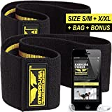 GYMPRO-USA Hip Circle Resistance Band for Men and Women - Grippy Non Slip Loops for Squats, Warm-ups, Booty and Lower Body Exercises – SET OF 2 (S/M + L/XL) Premium Quality