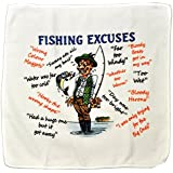 Fishing Excuses Microfibre Cleaning Cloth - Perfect for wiping down Rods and Tackle - Makes an Ideal Gift by personalised4u