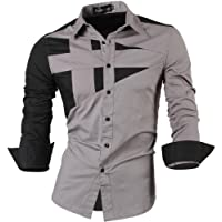 jeansian Homme Chemises Casual Shirt Tops Mode Men Slim Fit 8397