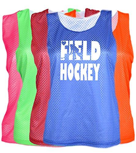 (JANT girl Field Hockey Mesh Pinnie with Heart Logo (Royal,)