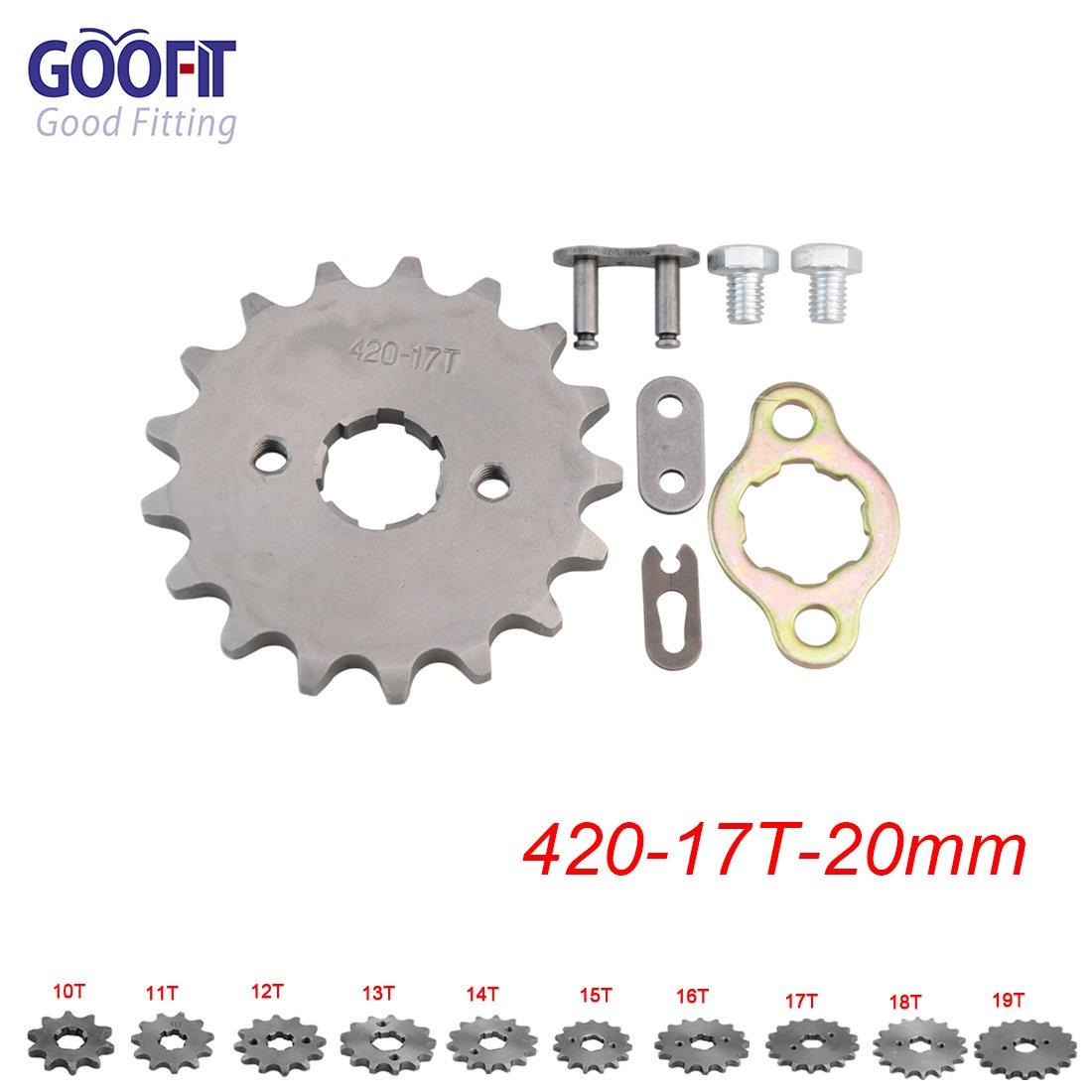 GOOFIT 428 14T 20mm trasmissione cambio pignone catena ingranaggi gruppo piccoli per motocross fuoristrada ATV quad da 50cc 110cc Dirt Bike ATV