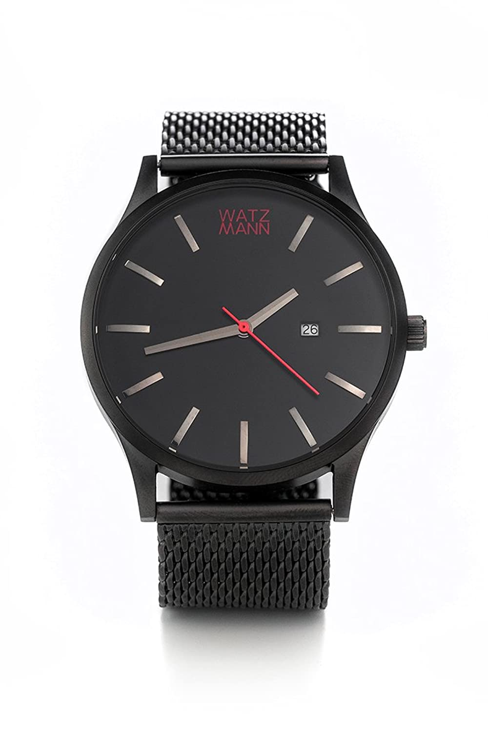 WATZMANN watch -- black mesh edition - minimalistische Herrenuhr