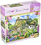 MasterPieces Puzzle Company Flower Cottages Foxglove Cottage Jigsaw Puzzle (1000-Piece), Art by Howard Robinson
