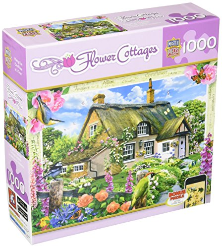 MasterPieces Flower Cottages Foxglove Cottage Jigsaw Puzzle, Art by Howard Robinson, 1000-Piece