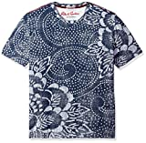 Robert Graham Men's Batik Short Sleeve Knit Graphic T-Shirt, Blue, XLarge