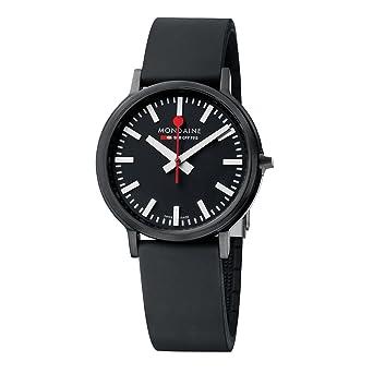 Mondaine SBB Stop2go 41mm A512.30358.64SPB Reloj de pulsera Cuarzo Hombre correa de Silicona Negro: Amazon.es: Relojes