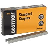 Bostitch Premium Standard Staples, Full-Strip, 0.25 Inch Leg, 5,000 per Box (SBS191/4CP)