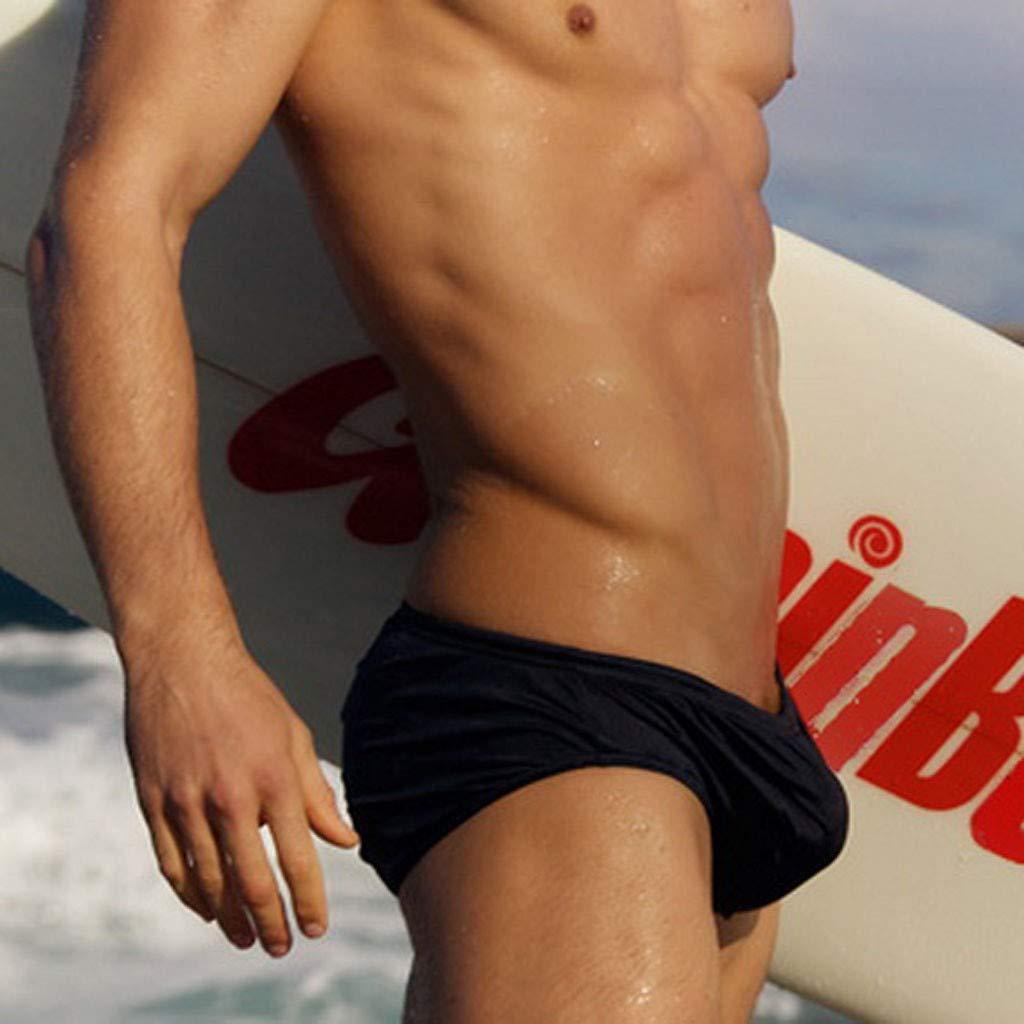 Mens Solid Swimming Shorts Body Bikini Swimsuit Briefs Hot Low-Rise Swimming Briefs Pure Bikini Swimwear GreatGiftList