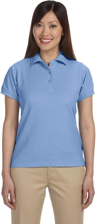 Blend-Tek Polo LIGHT COLLEGE BLUE Harriton Ladies 5 oz S
