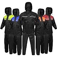 6 paquetes de dise/ño m/ás popular Tela Cordura XS negro y gris Pasamonta/ñas impermeable para motocicleta 2 trajes de chaqueta y pantalones