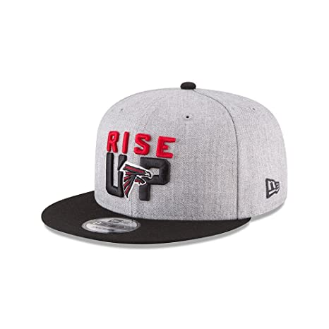 huge selection of 8c65c b6e2e Amazon.com  New Era Authentic Atlanta Falcons Heather Gray Black 2018 NFL  Draft Official On-Stage 9FIFTY Snapback Adjustable Hat  Sports   Outdoors